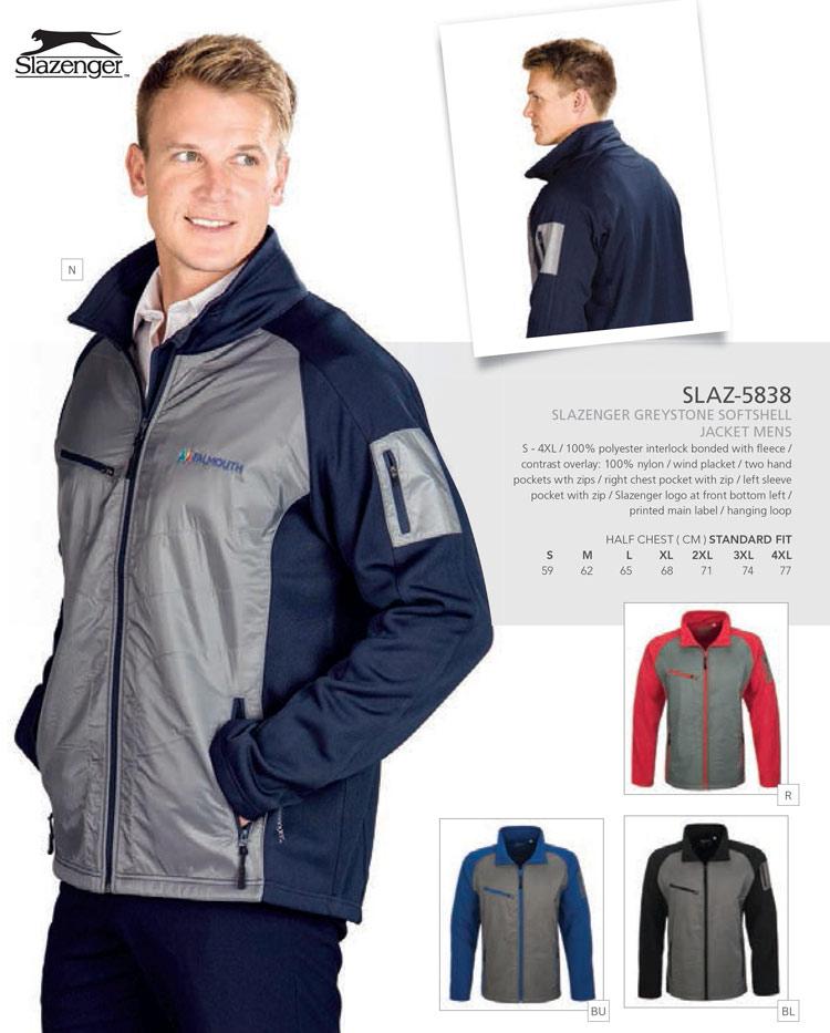 greystone slazenger softshell jackets