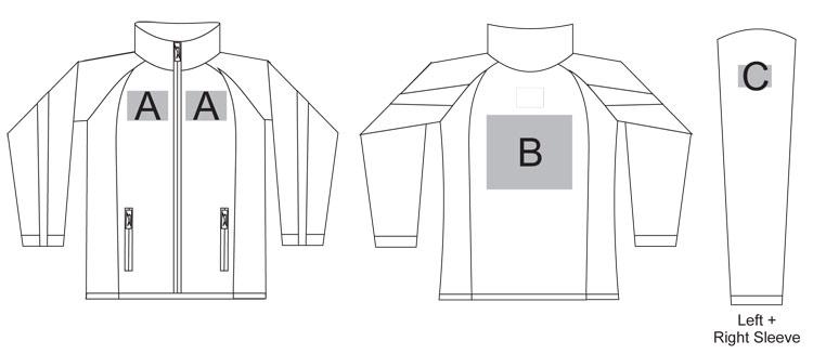 slazenger apex soft shell branding