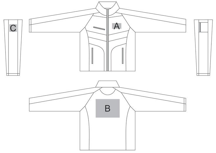 slazenger greystone branding layout