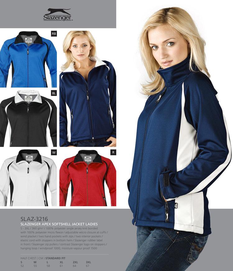 slazenger soft shell jackets-apex